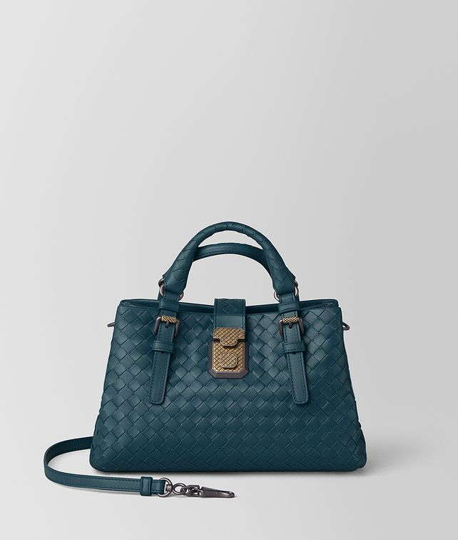 BOTTEGA VENETA MINI ROMA BAG IN INTRECCIATO CALF LEATHER Top Handle Bag [*** pickupInStoreShipping_info ***] fp