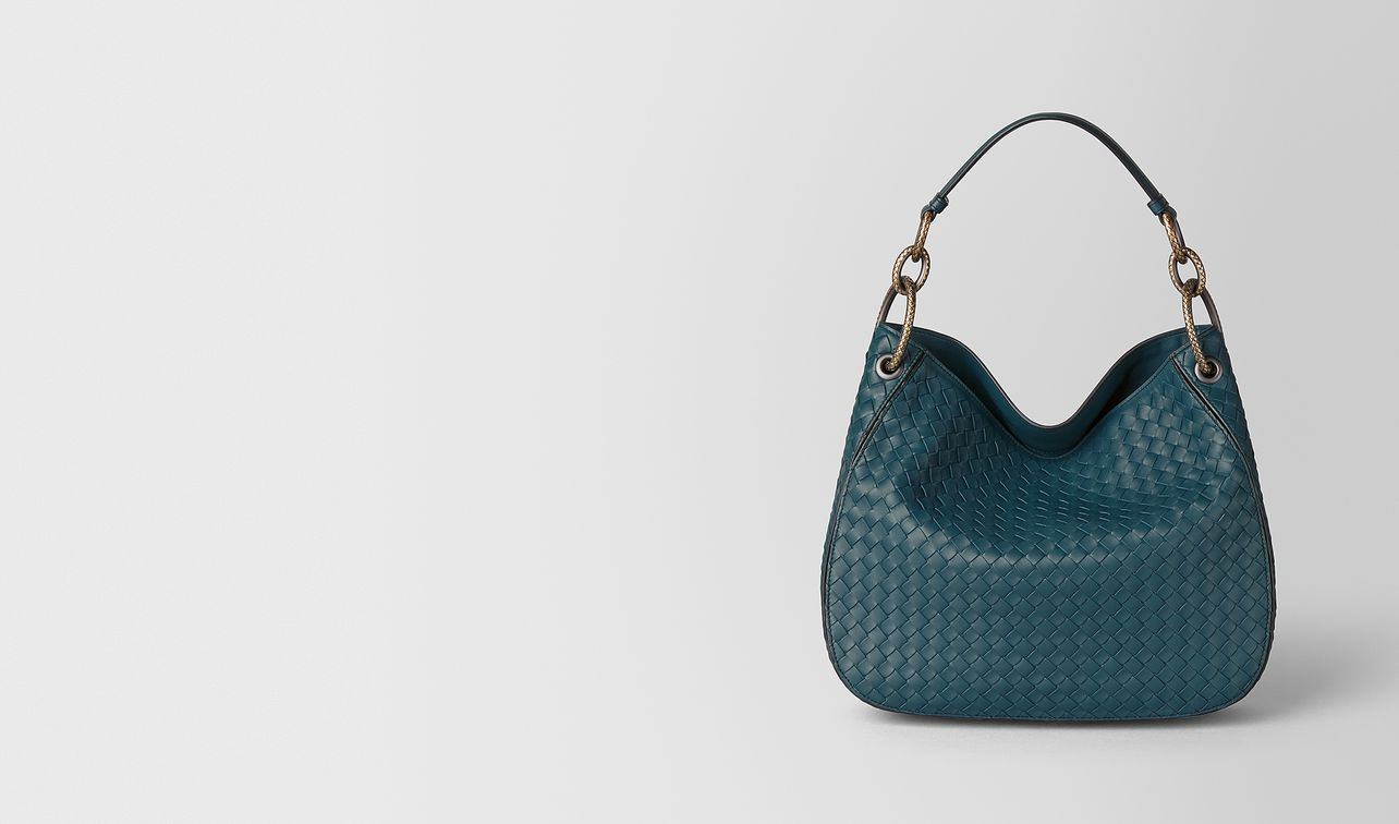 small loop bag in intrecciato nappa  landing