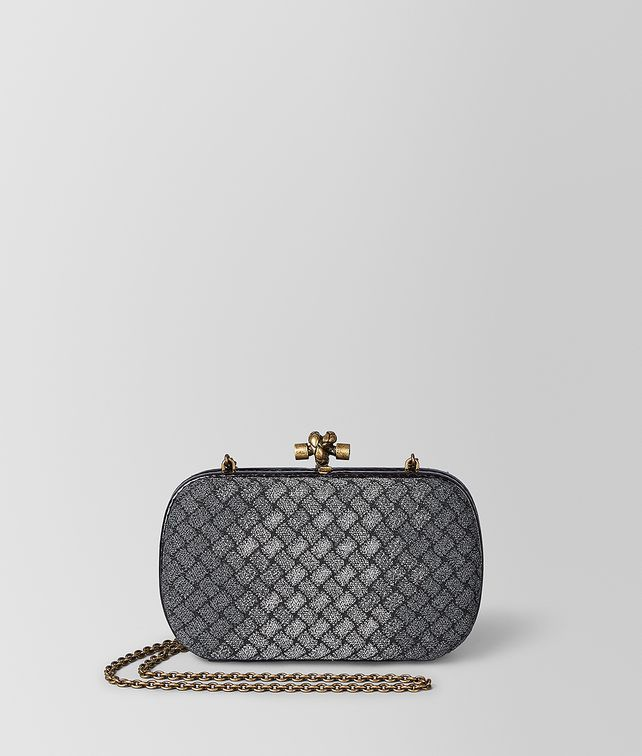 BOTTEGA VENETA CHAIN KNOT IN INTRECCIATO KNITTED Clutch Woman fp