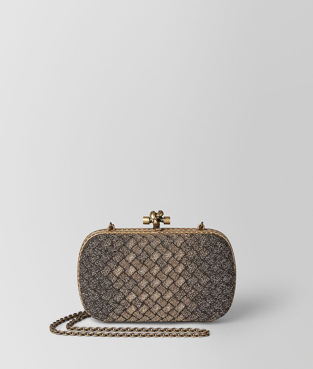 BOTTEGA VENETA CHAIN KNOT IN INTRECCIATO KNITTED Clutch [*** pickupInStoreShipping_info ***] fp