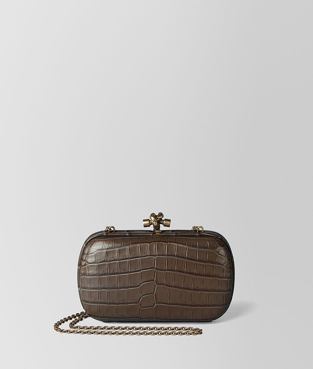 BOTTEGA VENETA CHAIN KNOT IN CROCODILE Clutch [*** pickupInStoreShipping_info ***] fp