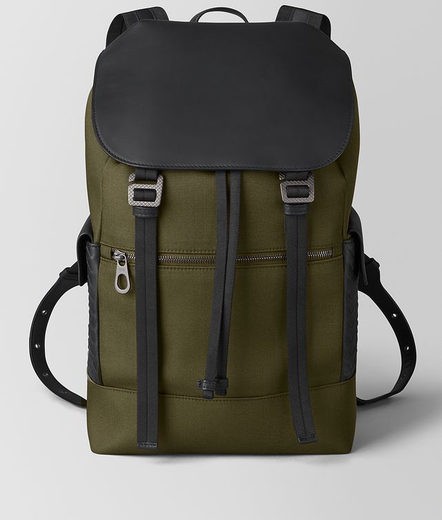 BOTTEGA VENETA SASSOLUNGO BACKPACK IN HI-TECH CANVAS AND MATTE CALF LEATHER Backpack Man fp