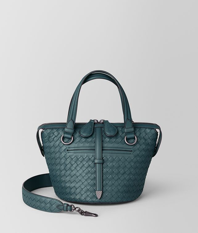 BOTTEGA VENETA SMALL TAMBURA BAG IN INTRECCIATO NAPPA Top Handle Bag [*** pickupInStoreShipping_info ***] fp