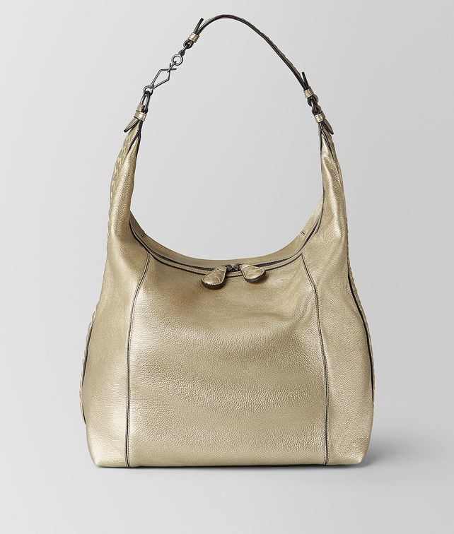 BOTTEGA VENETA LARGE MI-NY BAG IN METALLIC CALF Hobo Bag [*** pickupInStoreShipping_info ***] fp