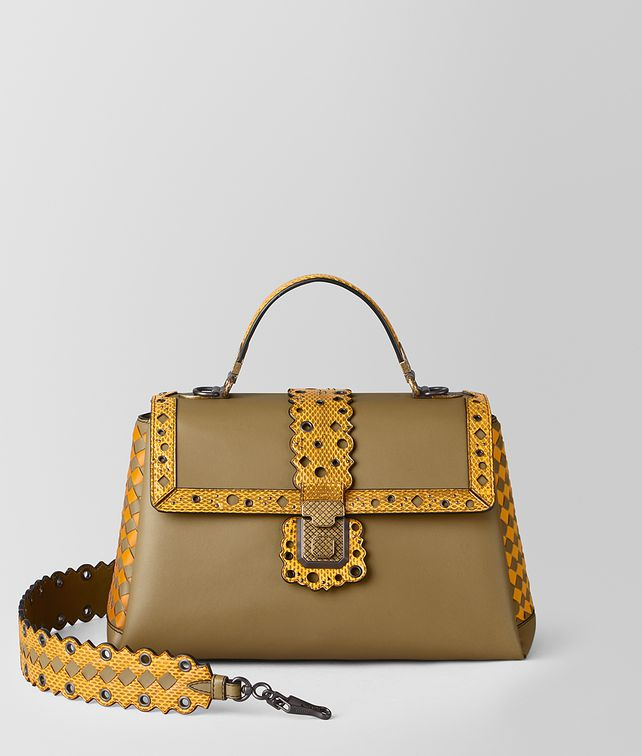 BOTTEGA VENETA MEDIUM PIAZZA BAG IN CHECKER LACY Top Handle Bag [*** pickupInStoreShipping_info ***] fp