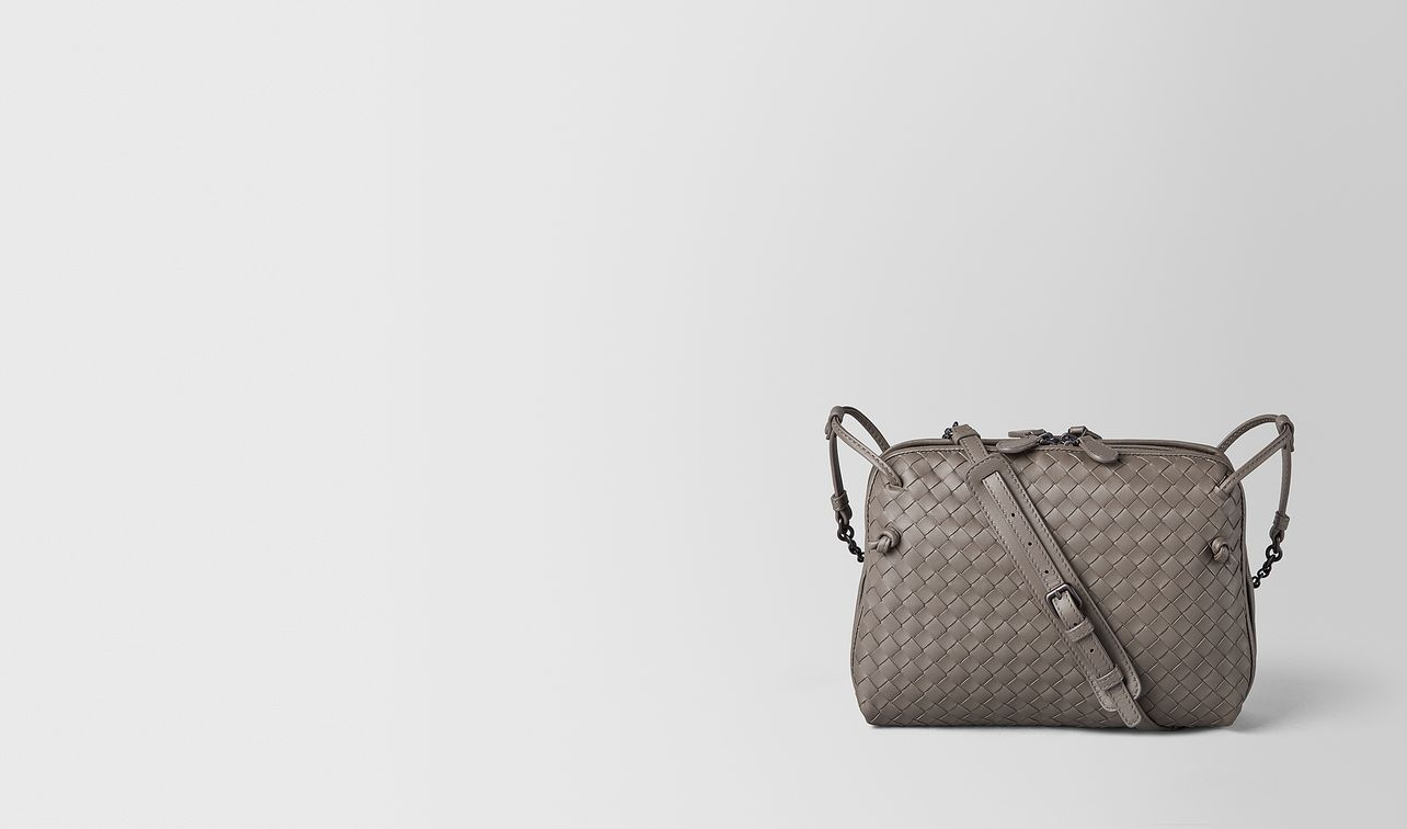 small cross-body bag in intrecciato nappa  landing