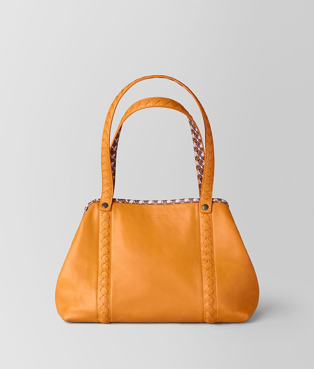 BOTTEGA VENETA SMALL TOTE IN NAPPA AND NYLON Tote Bag Woman fp