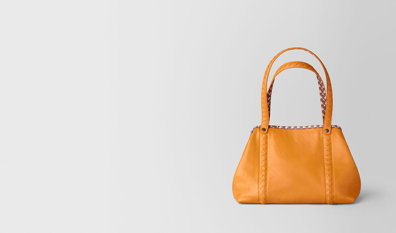small tote in nappa and nylon landing