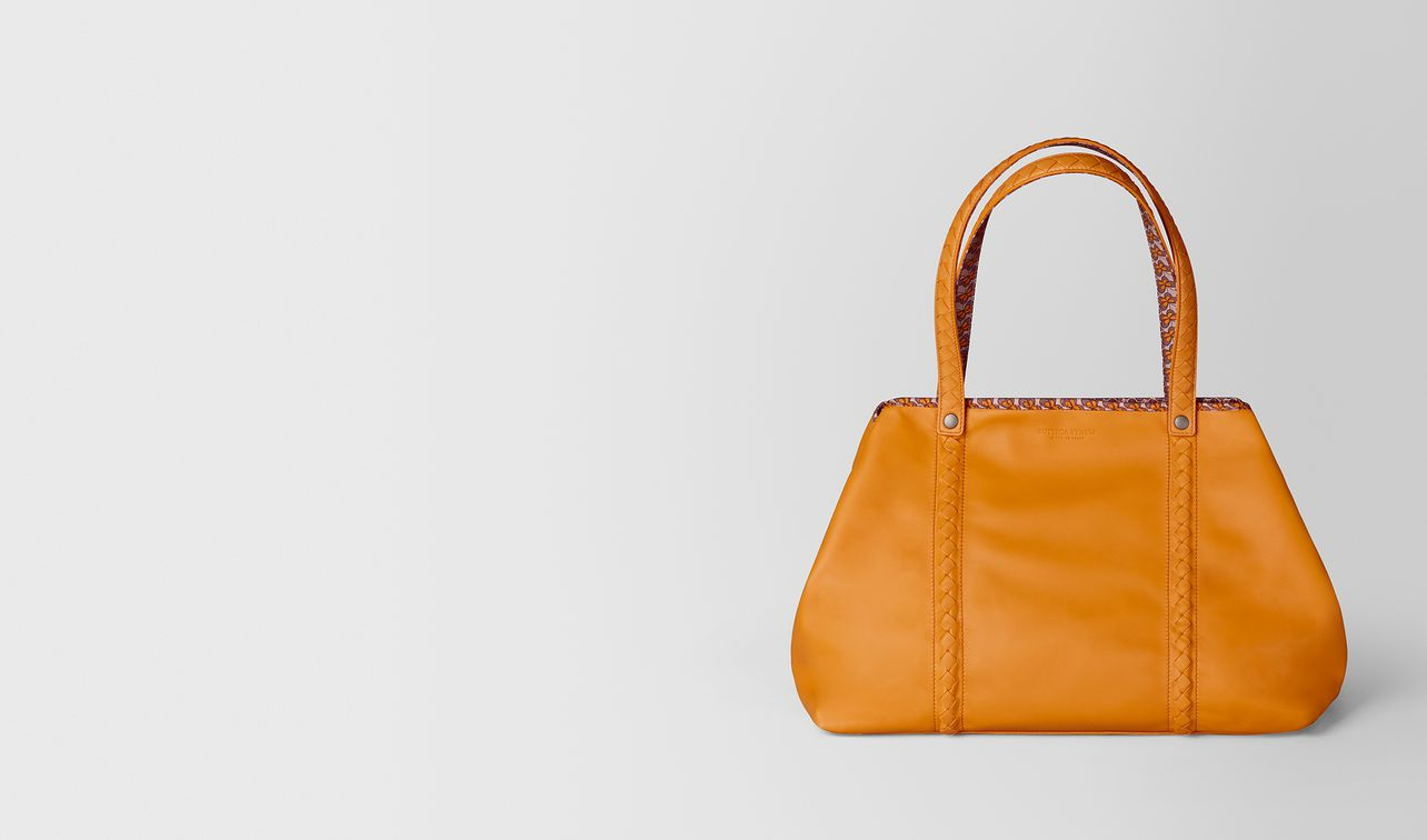 medium tote in nappa and nylon  landing