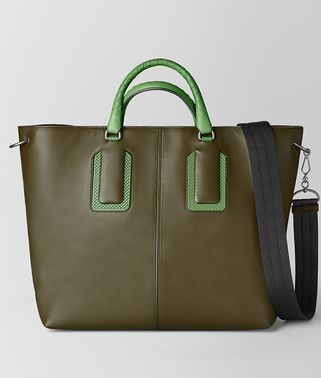 18 TOTE IN FRENCH CALF AND ENAMEL