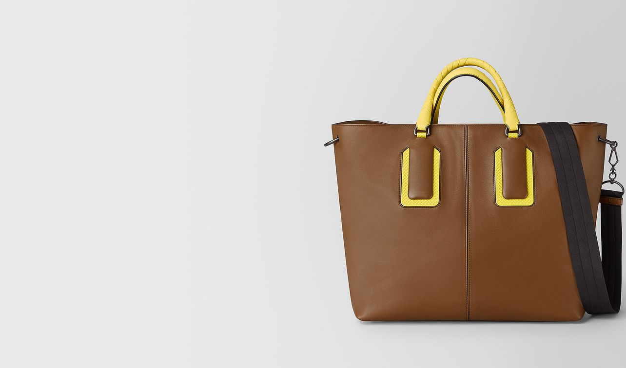 18 tote in french calf leather and enamel landing