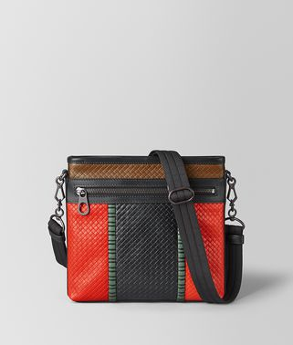 MESSENGER BAG IN MICRO-INTRECCIATO EMBOSSED