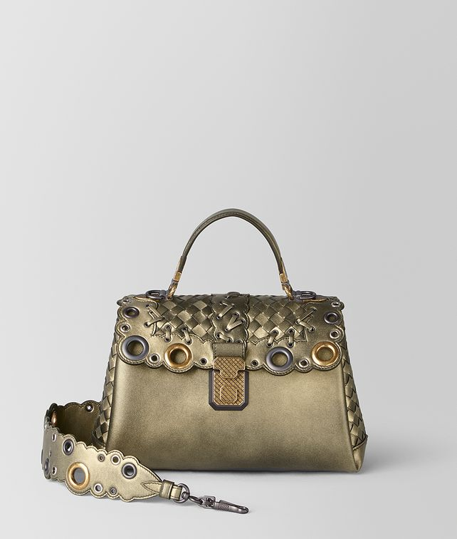 BOTTEGA VENETA SMALL PIAZZA BAG IN INTRECCIATO LACE Top Handle Bag       pickupInStoreShipping info 846dae0fb9204