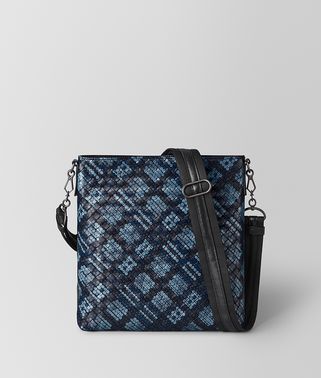 MESSENGER BAG IN TARTAN DOTS