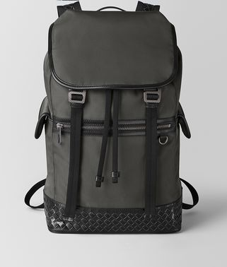 LARGE BACKPACK IN HI-TECH CANVAS AND METALBRUSH