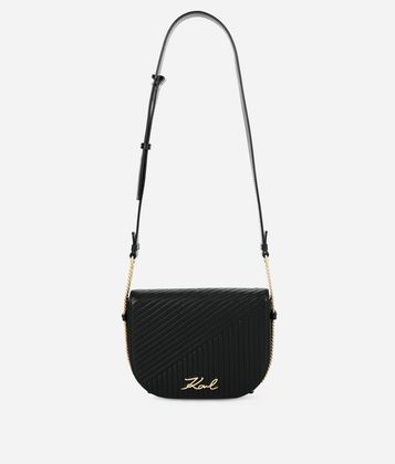 KARL LAGERFELD K/SIGNATURE QUILTED SHOULDER BAG