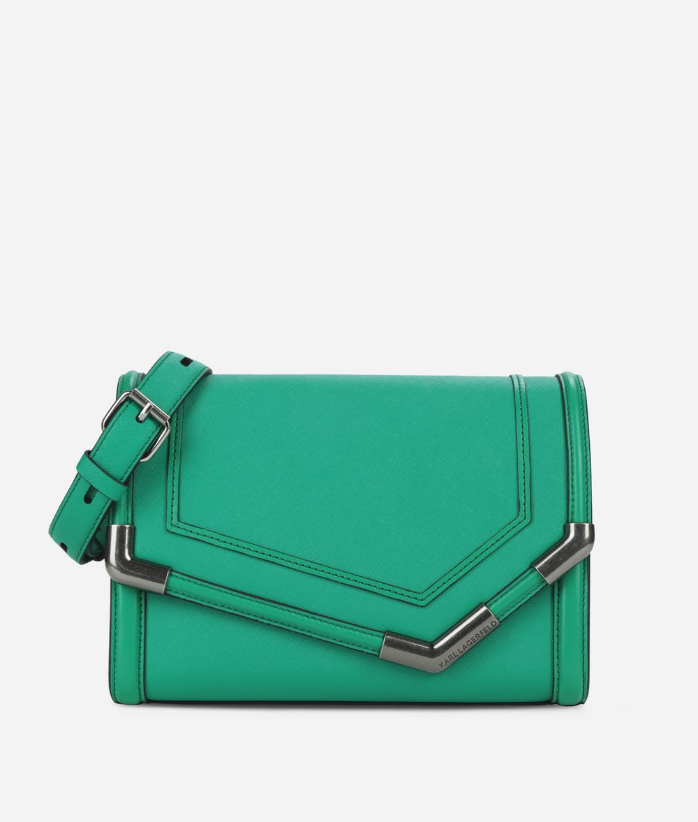 KARL LAGERFELD K/Rocky Saffiano Shoulder Bag Handbag Woman f
