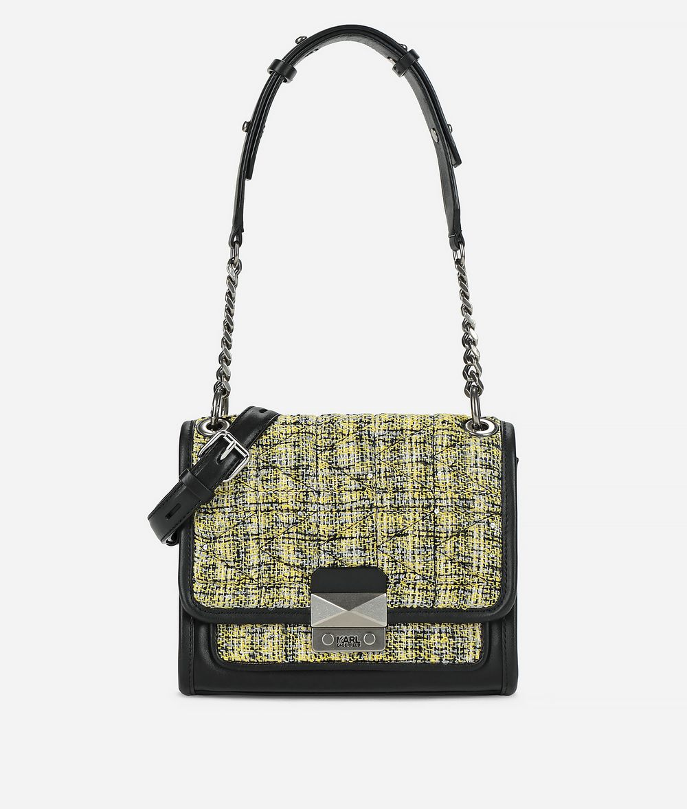 KARL LAGERFELD K/Kuilted Tweed Handbag Handbag Woman f