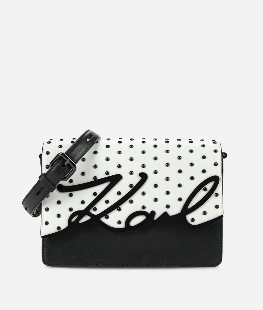 KARL LAGERFELD K/Signature Special Studs Shoulder Bag Handbag Woman f