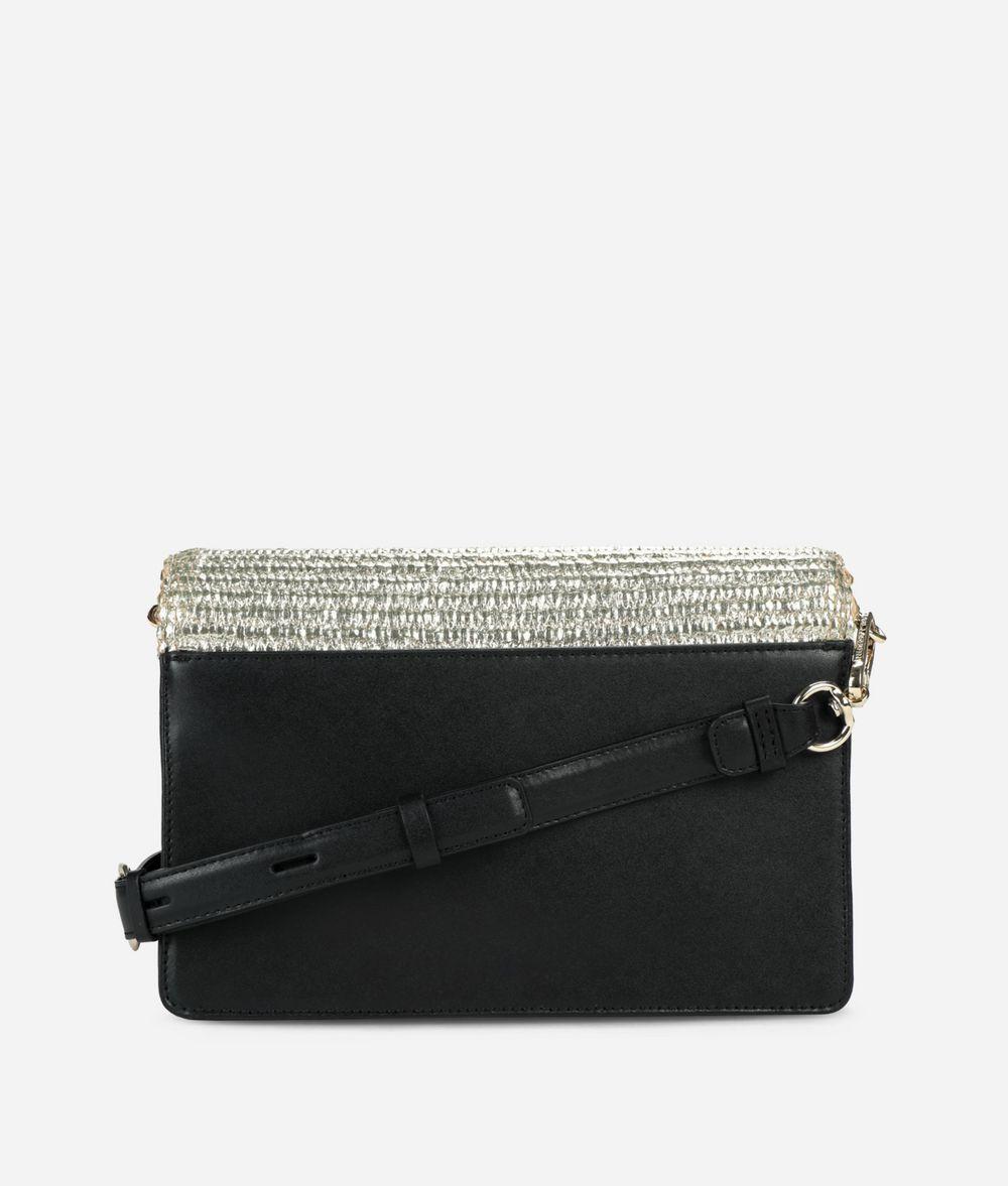 KARL LAGERFELD K/Signature Raffia Shoulder Bag Handbag Woman d