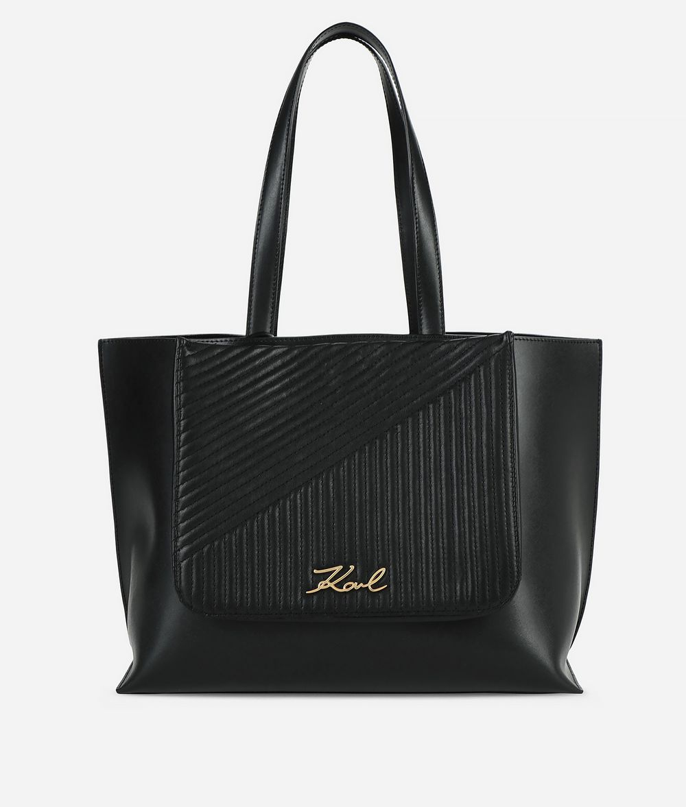 KARL LAGERFELD K/Signature Quilted Shopper Shopper Woman f