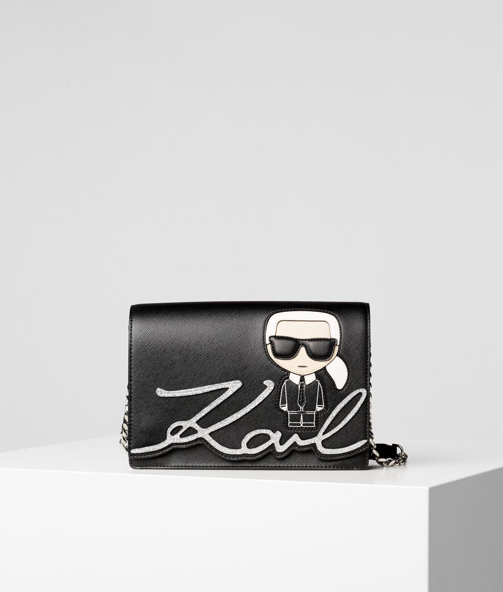 KARL LAGERFELD K/Ikonik Shoulder Bag Handbag Woman f