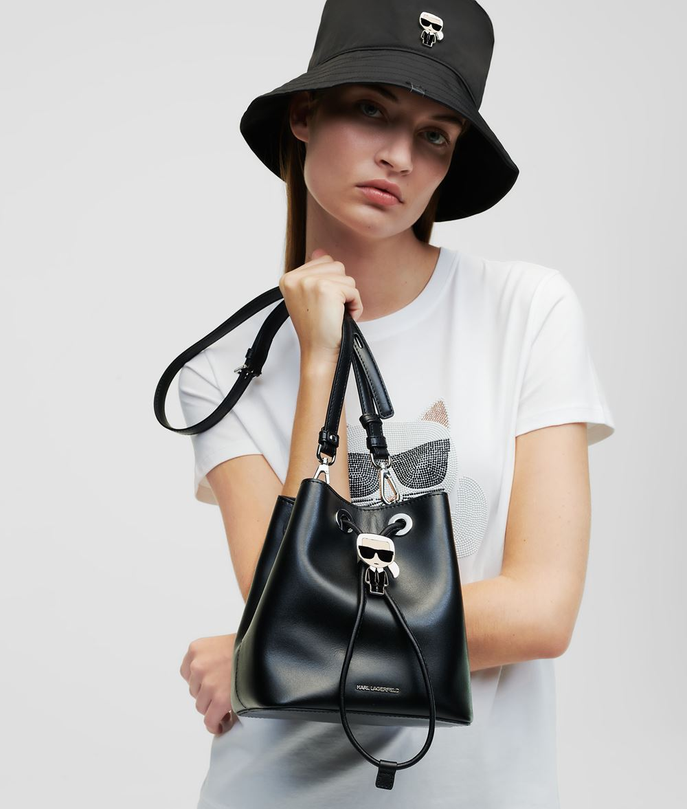KARL LAGERFELD K/Ikonik Bucket Bag Drawstring bag Woman f