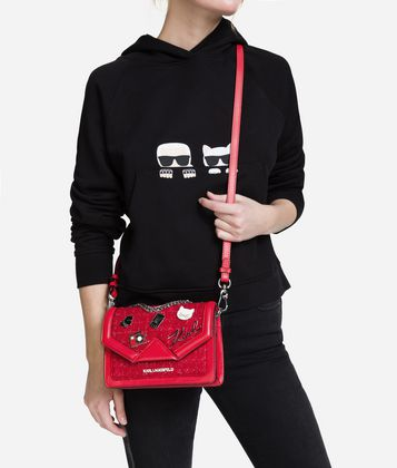 KARL LAGERFELD K/KLASSIK PINS SHOULDER BAG