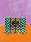 Marni MARNI MARKET E-W shopping bag in polypropylene with lozenge pattern Man - 1