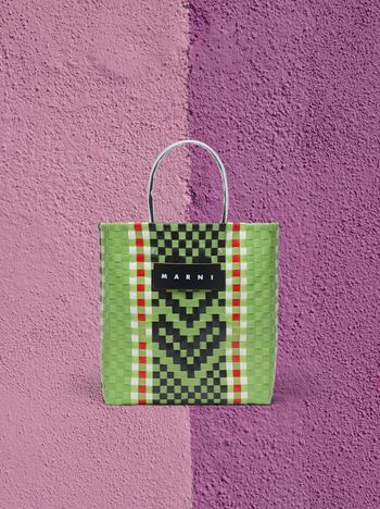 Marni MARNI MARKET N-S shopping bag in polypropylene with floral pattern Man