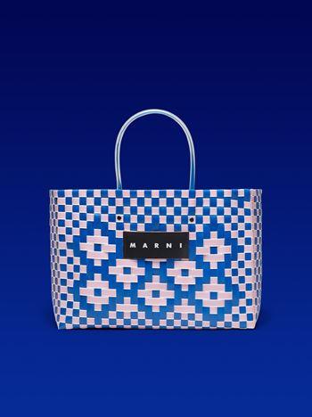 Marni MARNI MARKET E-W shopping bag in polypropylene with floral pattern Man f