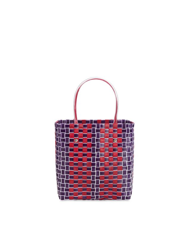 Marni MARNI MARKET shopping bag in bi-colored polyester Man
