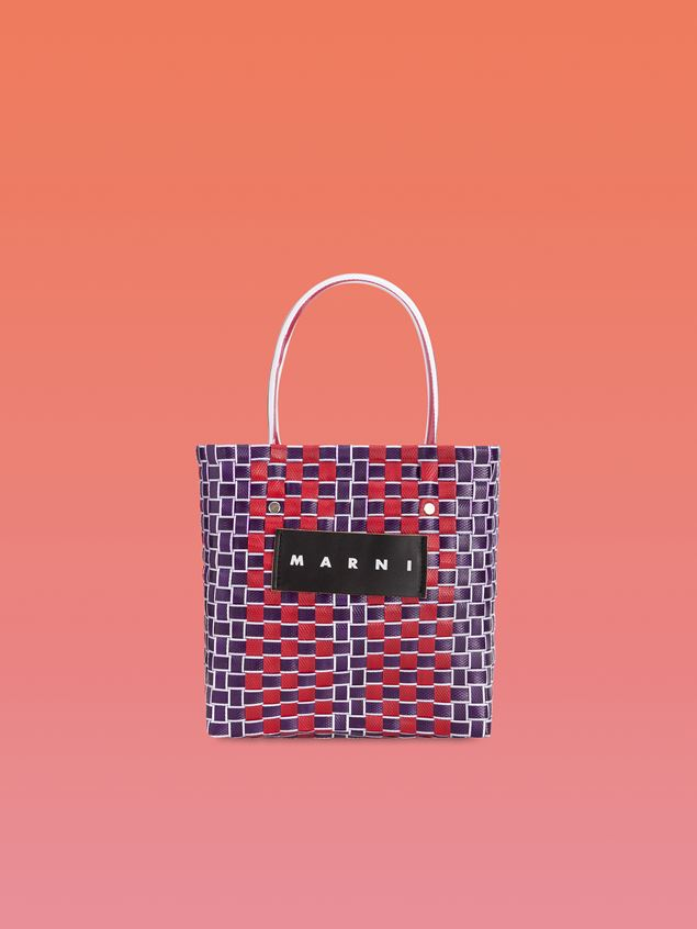 Marni MARNI MARKET shopping bag in bi-colored polyester Man - 1