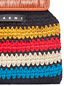 Marni MARNI MARKET orange frame bag in crochet wool with striped pattern Man - 4