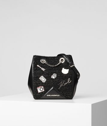 KARL LAGERFELD K/KLASSIK PINS BUCKET BAG