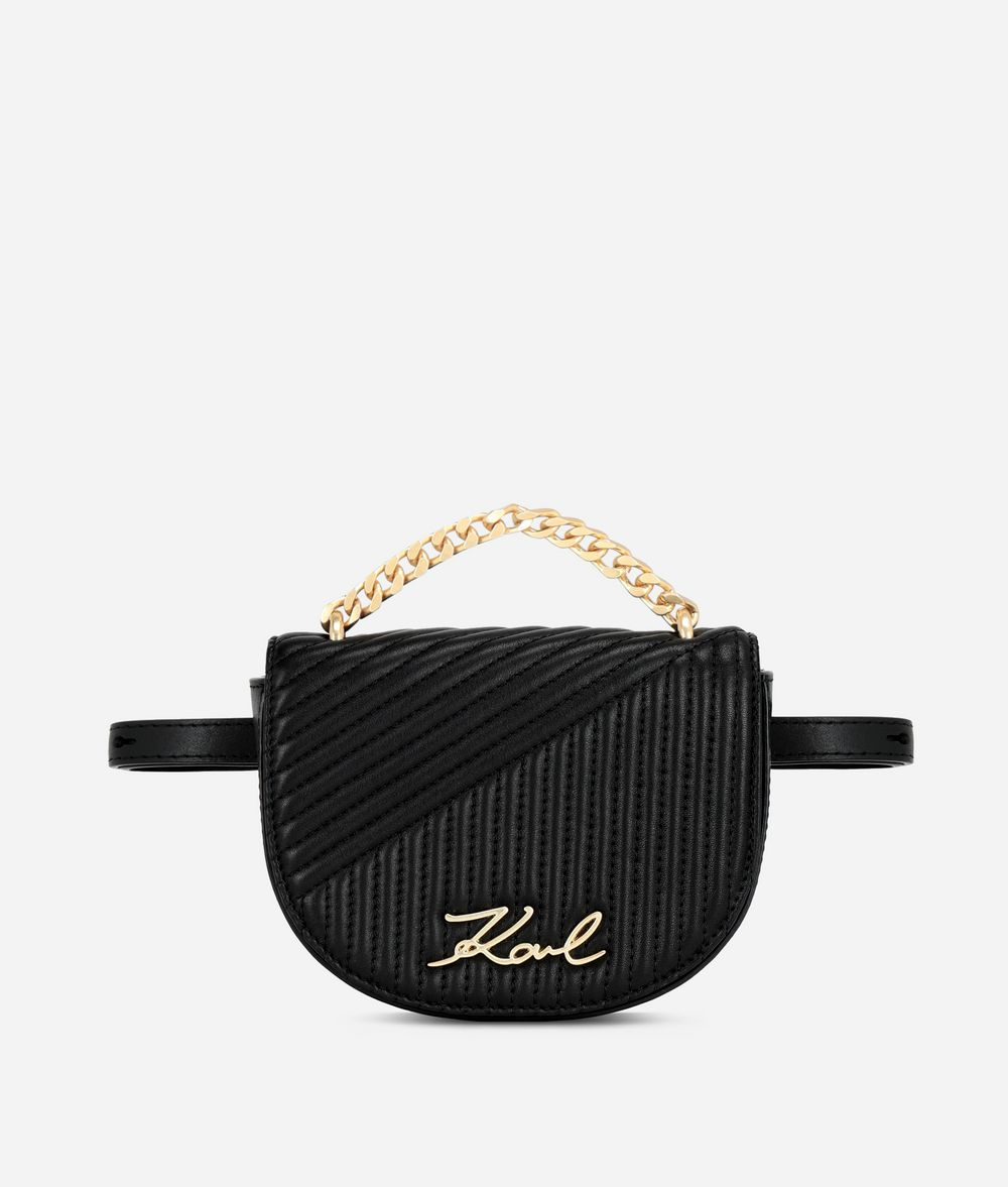 KARL LAGERFELD K/Signature Quilted Belt Bag Fanny pack Woman f