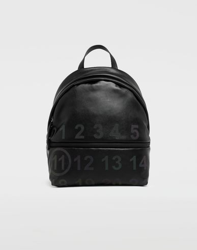 MAISON MARGIELA Rucksack [*** pickupInStoreShipping_info ***] Logo-embellished leather backpack f