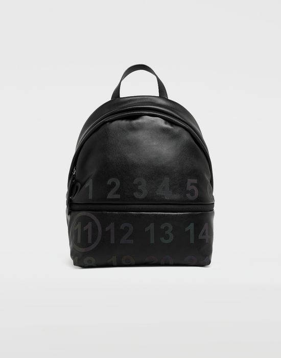 MAISON MARGIELA Logo-embellished leather backpack Backpack [*** pickupInStoreShipping_info ***] f