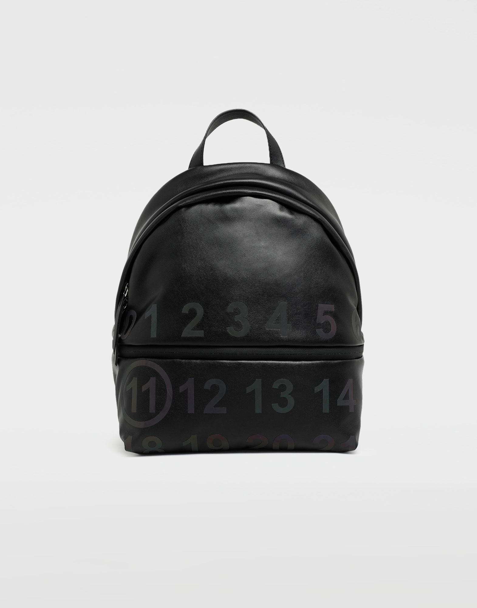 MAISON MARGIELA Logo-embellished leather backpack Rucksack Woman f