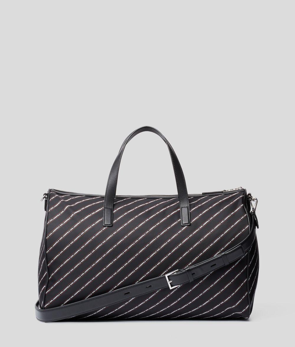 KARL LAGERFELD K/Stripe Logo Weekender Handbag E d