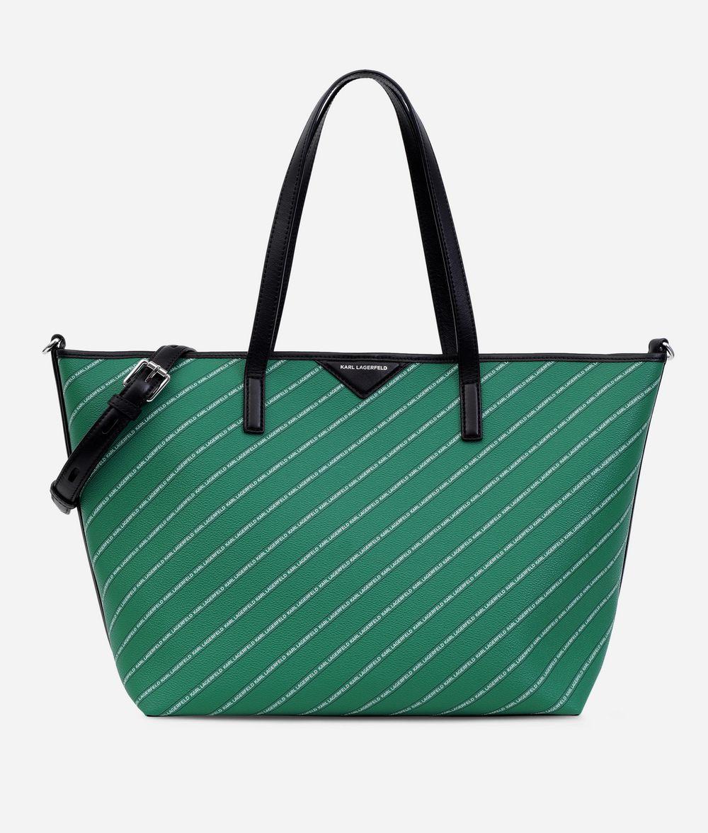 KARL LAGERFELD K/Stripe Logo Shopper Shopper Woman f