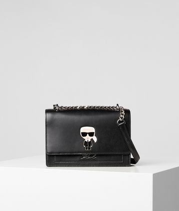 KARL LAGERFELD K/IKONIK METAL LOCK SHOULDER BAG