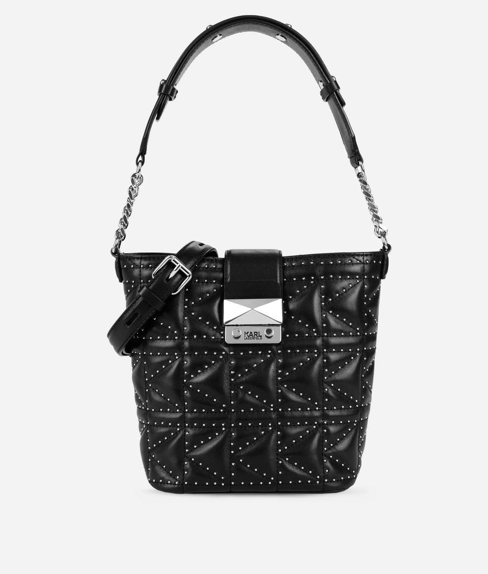 KARL LAGERFELD K/Kuilted Studs Bucket Bag Drawstring bag Woman f