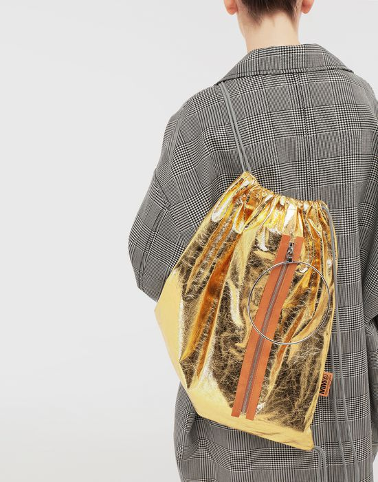 MM6 MAISON MARGIELA Crinkled leather drawstring backpack Rucksack [*** pickupInStoreShipping_info ***] b