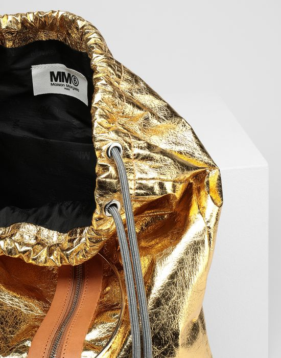 MM6 MAISON MARGIELA Crinkled leather drawstring backpack Rucksack [*** pickupInStoreShipping_info ***] d