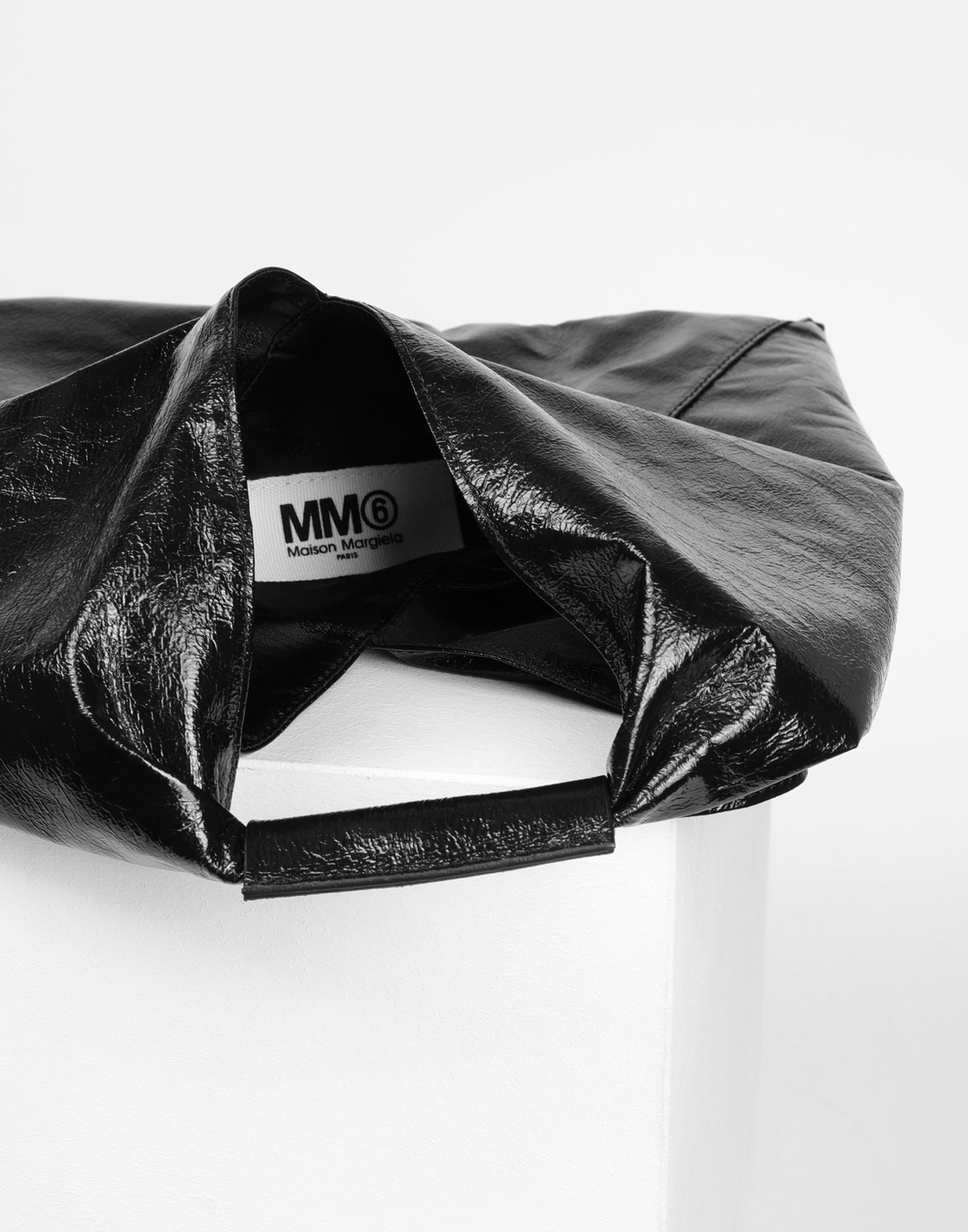 MM6 MAISON MARGIELA Japanese crinkled leather small bag Tote Woman d