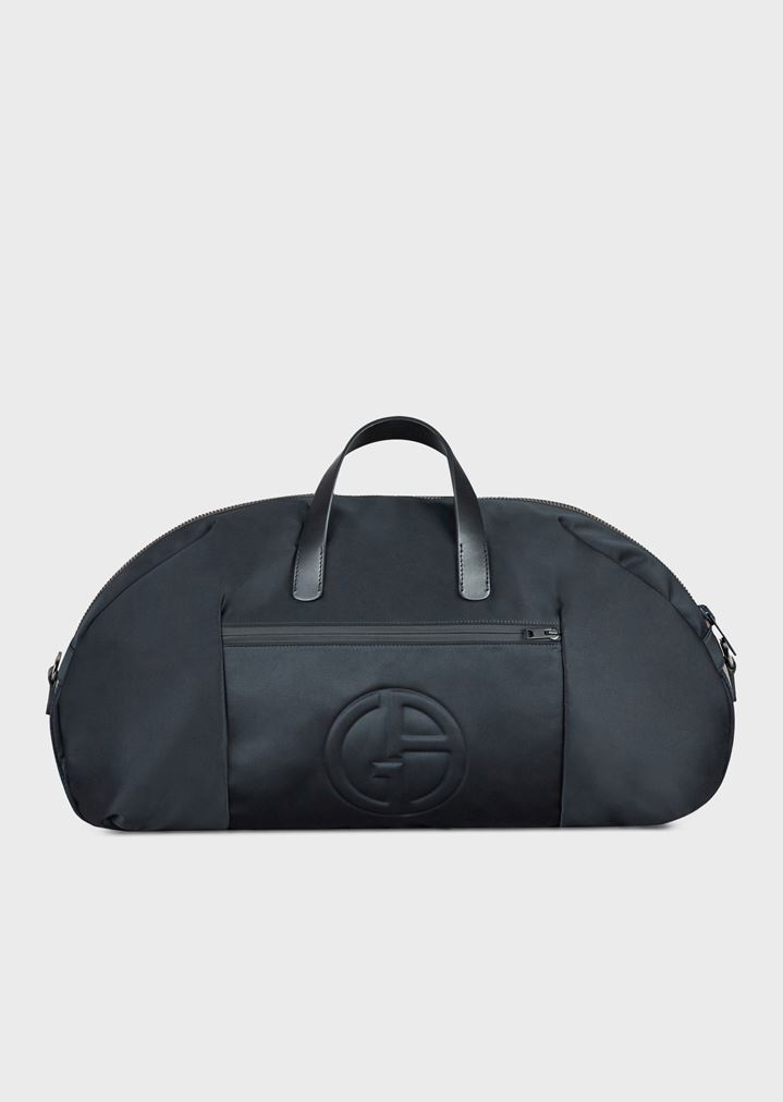 fb74bcf98c06 Holdall with embossed logo and detachable shoulder strap
