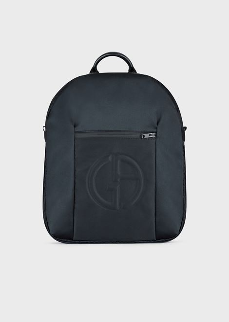 Backpack with embossed logo and zip pocket on the front 024dfc9af9b44