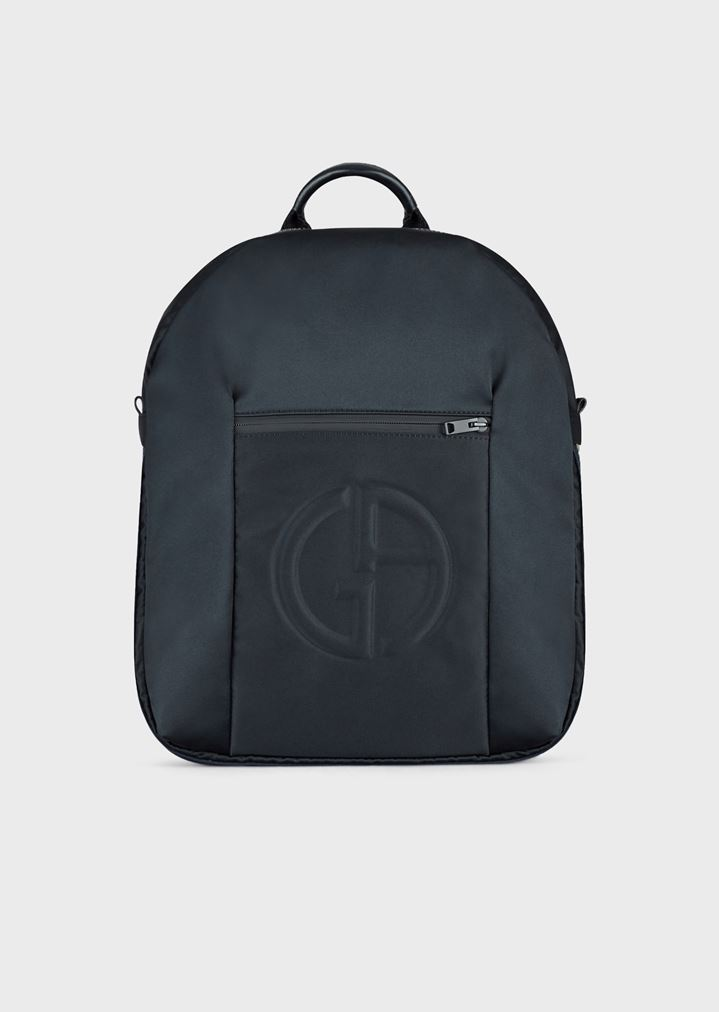 68a4fcbf3b Backpack with embossed logo and zip pocket on the front