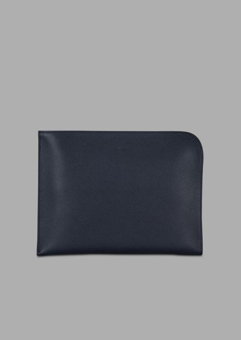 Grainy leather document case